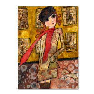 Wyanne 'Big Eyed City Girl' Canvas Art