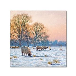 The Macneil Studio 'Winter Sheep' Canvas Art