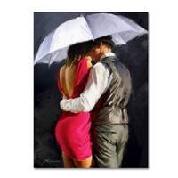 The Macneil Studio 'Couple White Umbrella' Canvas Art