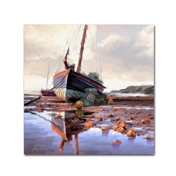 The Macneil Studio 'Lobster Pots On The Shore' Canvas Art