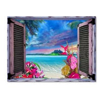 Leo Kelly 'Tropical Window to Paradise VII' Canvas Art