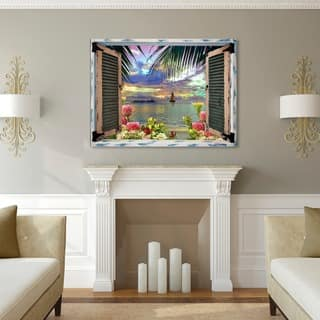 Leo Kelly 'Tropical Window to Paradise III' Canvas Art|https://ak1.ostkcdn.com/images/products/15645981/P22076045.jpg?impolicy=medium