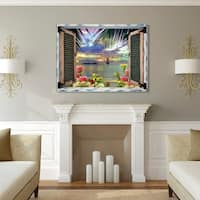 Leo Kelly 'Tropical Window to Paradise III' Canvas Art