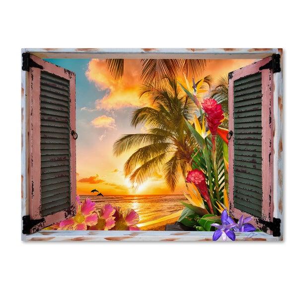 Shop Leo Kelly Tropical Window To Paradise Ii Canvas Art