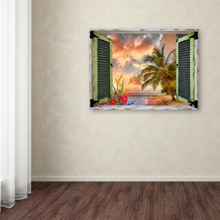 Leo Kelly 'Tropical Window to Paradise IV' Canvas Art