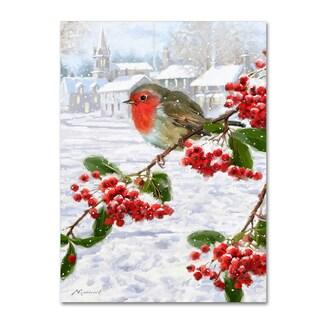 The Macneil Studio 'Robin On Berries' Canvas Art
