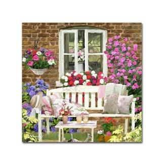 The Macneil Studio 'Garden Bench' Canvas Art