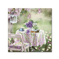 The Macneil Studio 'Outdoor Table' Canvas Art