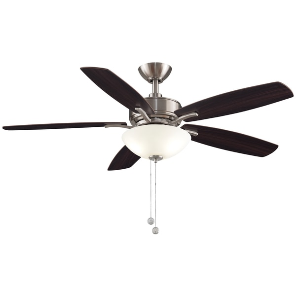 Shop fanimation aire deluxe 52 inch ceiling fan brushed nickel fanimation aire deluxe 52 inch ceiling fan brushed nickel with led bowl light kit aloadofball Choice Image