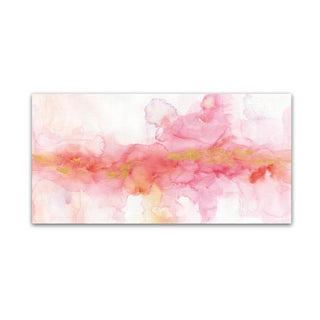 Lisa Audit 'Rainbow Seeds Abstract Gold' Canvas Art