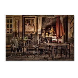 Lois Bryan 'The Sidewalk Café' Canvas Art