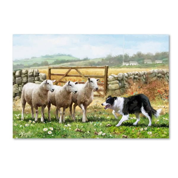 The Macneil Studio 'Sheepdog With Sheep' Canvas Art