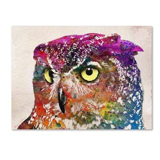 Mark Ashkenazi 'Owl Drowing' Canvas Art