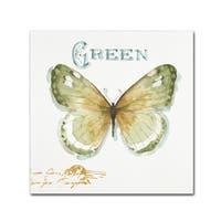 Lisa Audit 'My Greenhouse Butterflies IV' Canvas Art