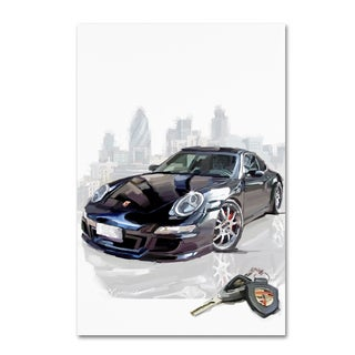 The Macneil Studio 'Black Porsche' Canvas Art