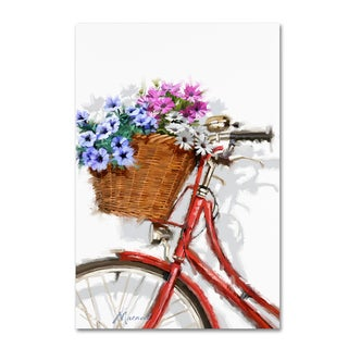 The Macneil Studio 'Bicycle With Basket' Canvas Art