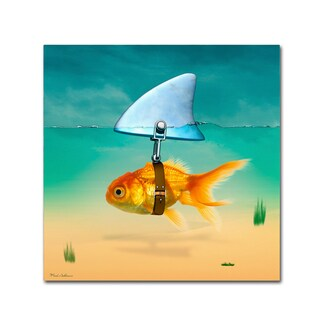 Mark Ashkenazi 'Gold Fish' Canvas Art