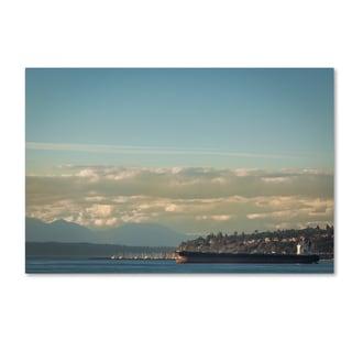 Yale Gurney 'Seattle Toward Bainbridge' Canvas Art