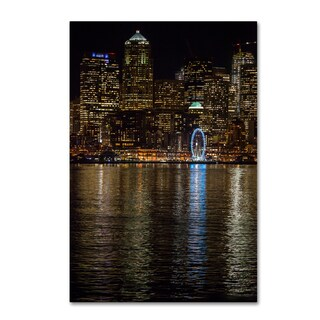 Yale Gurney 'Seattle at Night' Canvas Art