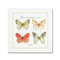 Lisa Audit 'Rainbow Seeds Butterflies III' Canvas Art