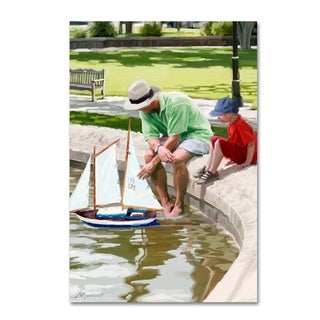 The Macneil Studio 'The Boating Lake' Canvas Art