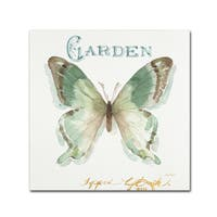 Lisa Audit 'My Greenhouse Butterflies III' Canvas Art