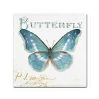 Lisa Audit 'My Greenhouse Butterflies II' Canvas Art