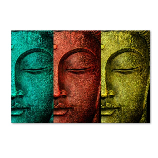 Mark Ashkenazi 'Buddha Face' Canvas Art