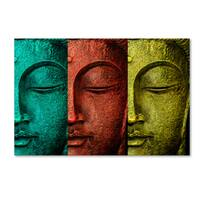 Mark Ashkenazi 'Buddha Face' Canvas Art