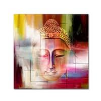 Mark Ashkenazi 'Buddha Face 4' Canvas Art