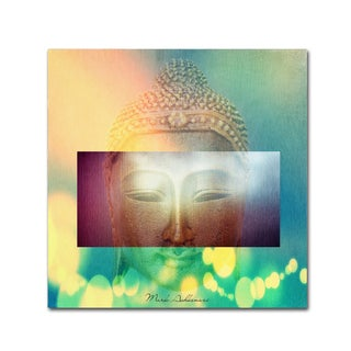Mark Ashkenazi 'Buddha Face 3' Canvas Art