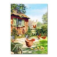 The Macneil Studio 'Chicken And Hens' Canvas Art