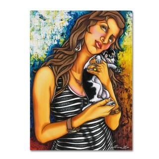 Victoria Mio 'Puppy' Canvas Art