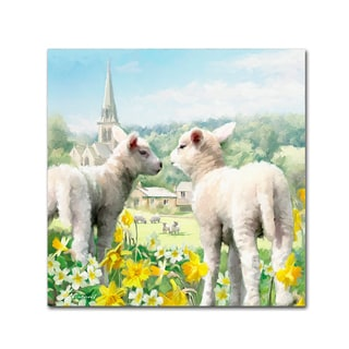 The Macneil Studio 'Easter Lambs' Canvas Art