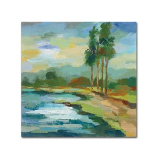 Silvia Vassileva 'Early Spring Landscape II' Canvas Art