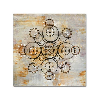 Melissa Averinos 'Saffron Mandala I Crop' Canvas Art