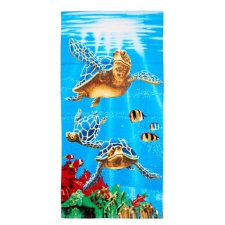 De Moocci Sea Turtles Printed Beach Towel