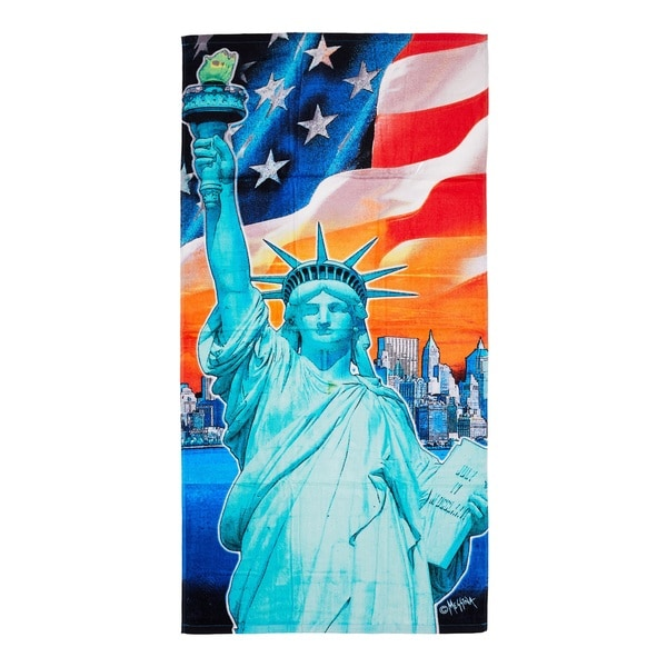 De Moocci Statue of Liberty Printed Beach Towel