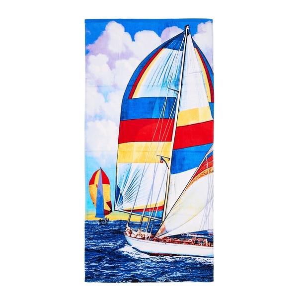 De Moocci Sail Boat Printed Beach Towel