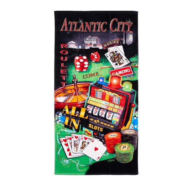 De Moocci Atlantic City Printed Beach Towel