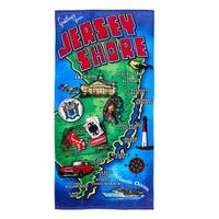 De Moocci Jersey Shore Printed Beach Towel