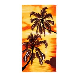 De Moocci Palm Tress Printed Beach Towel