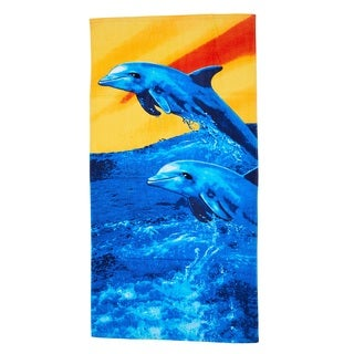 De Moocci Sunset Dolphin Printed Beach Towel