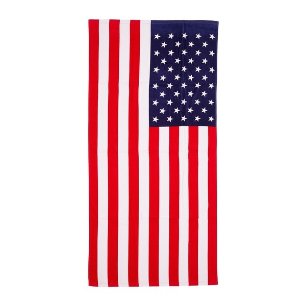 De Moocci American Flag Printed Beach Towel