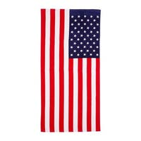 De Moocci American Flag Printed Beach Towel