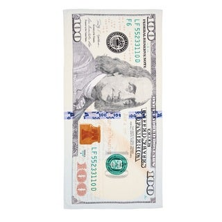 De Moocci New $100 Bill Printed Beach Towel
