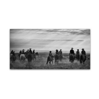 Dan Ballard 'Riding Out' Canvas Art