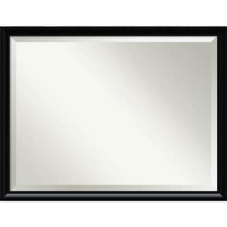 Wall Mirror Oversize Large, Steinway Black Scoop 43 x 33-inch