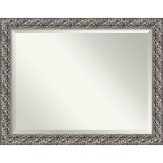 Wall Mirror Oversize Large, Silver Luxor 46 x 36-inch