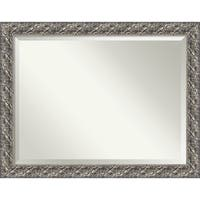 Wall Mirror Oversize Large, Silver Luxor 46 x 36-inch - Pewter - oversize large - 46 x 36-inch